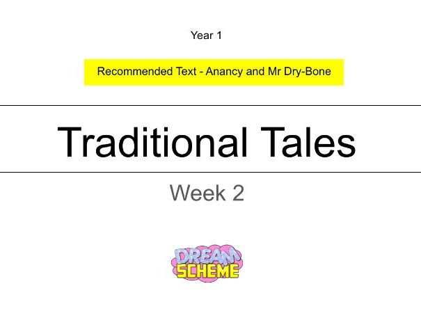 Year 1 - This presentation includes 5 whole lessons relating to Traditional Tales. Week 2 of 2.