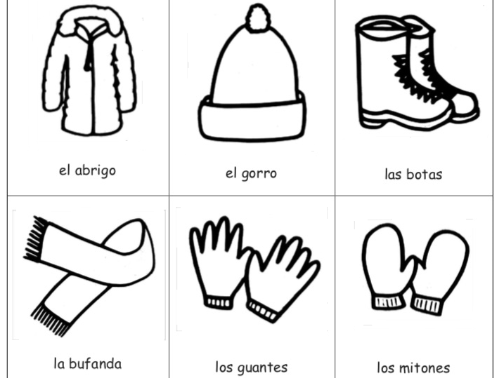 SPANISH - Winter Vocabulary