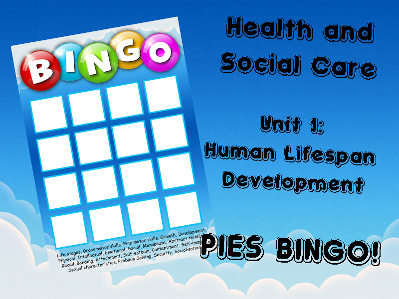 LIFE STAGES BINGO! (BTEC Health and Social Care)