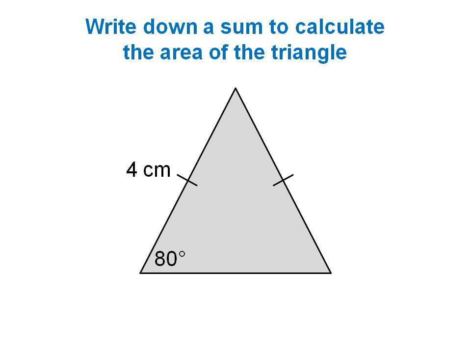 Area of a triangle trigonometry version