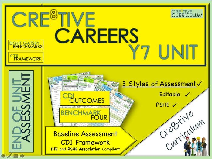 Year 7 Cre8tive Careers Baseline Assessment