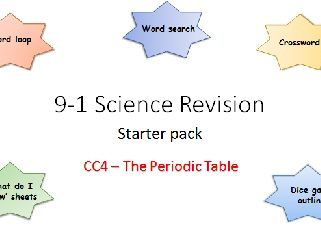C4 The Periodic Table Revision starter pack Science 9-1