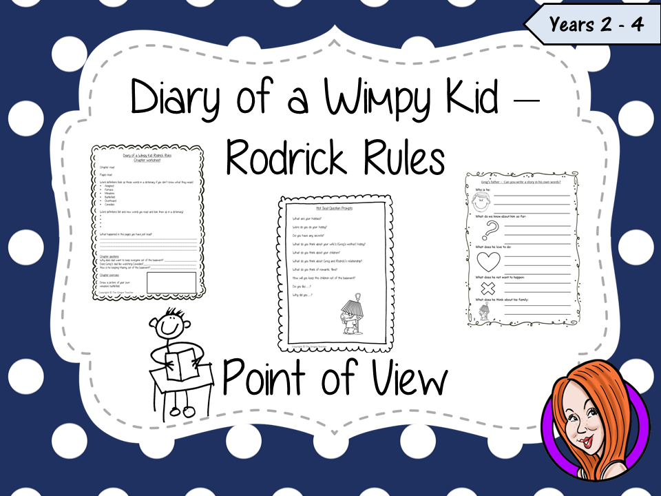 Point Of View Narrative Writing Complete Lesson Diary Of A Wimpy Kid Rodrick Rules Teaching Resources