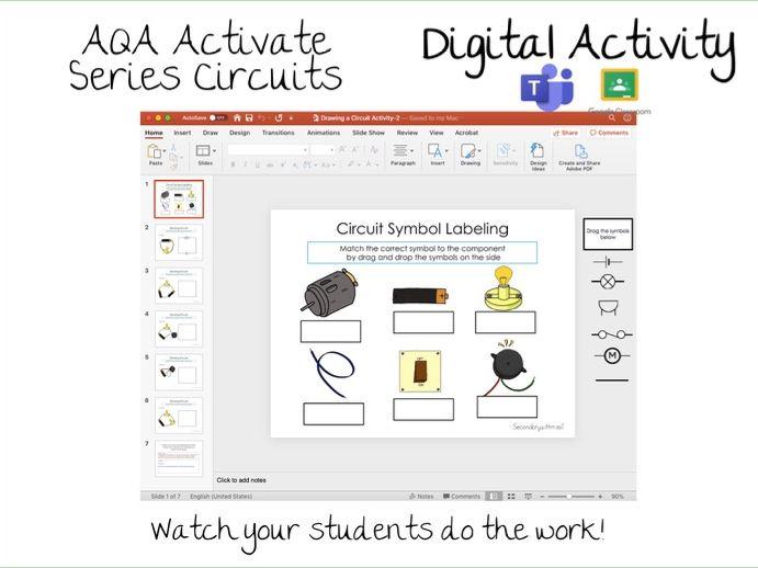Activate KS3 2.1.3 Series circuits- Building Circuits