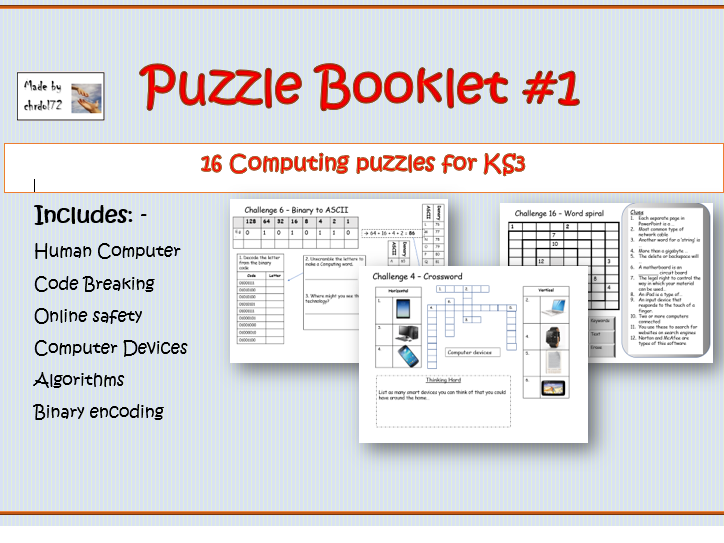 Computing Puzzle booklet