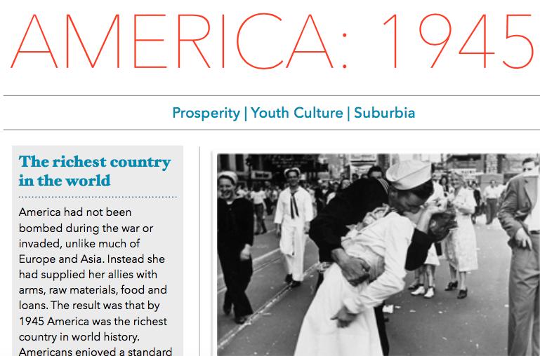 America in 1945