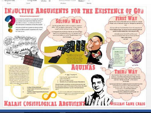 Inductive Arguments for the Existence of God Learning Mat