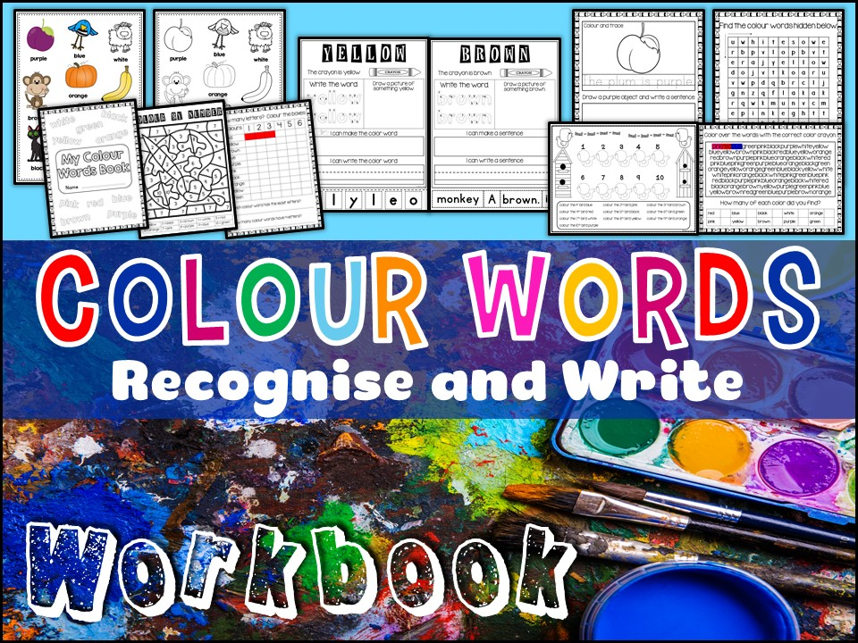 Vocabulary: Colour Words Workbook