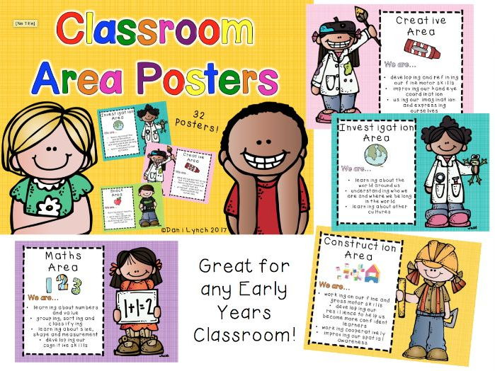 Classroom Area Posters
