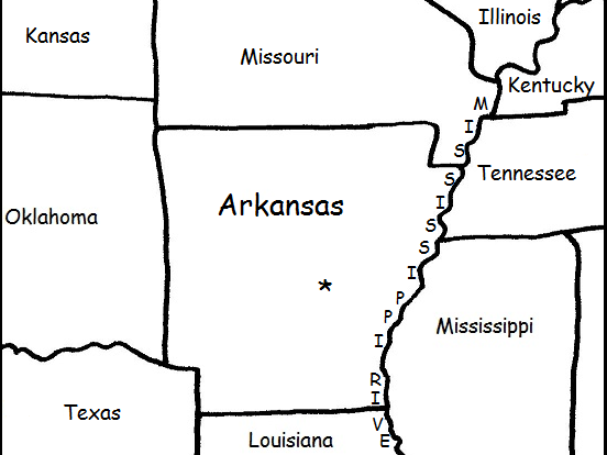 ARKANSAS - Printable handouts with map