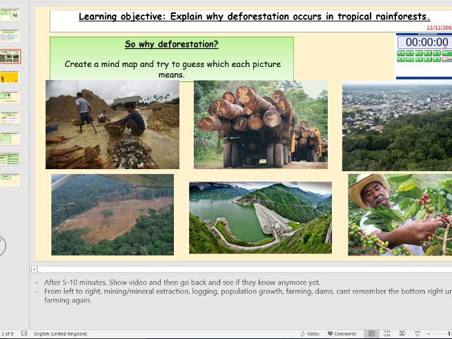 L2 - Causes of deforestation in tropical rainforest - (Living World) - [AQA GCSE Geography new spec]