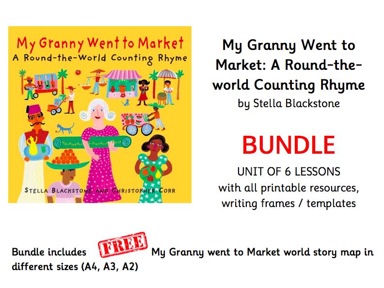 My Granny Went to Market BUNDLE Unit of 6 lesson and all printable resources and writing frames / templates