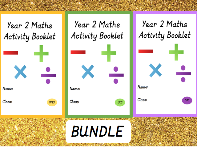 Year 2 Maths WTS, EXS and GDS Activity Booklet Bundle