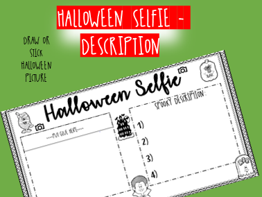 HALLOWEEN SECRET SELFIE - descriptive writing