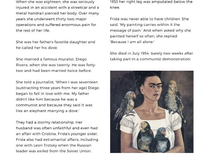 Introduction to Frida Kahlo & Modern Art | Complete Lesson | Reading & Writing