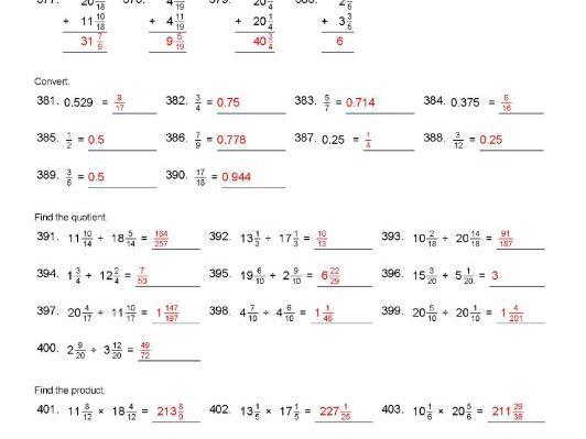 Freebie Fractions KS1 KS2 Mathematics Simplifying Mixed Fractions etc