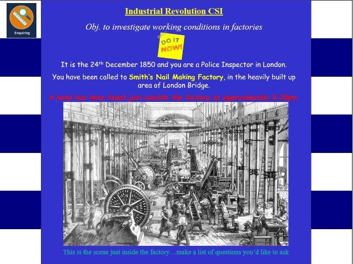 Industrial Revolution Murder Mystery
