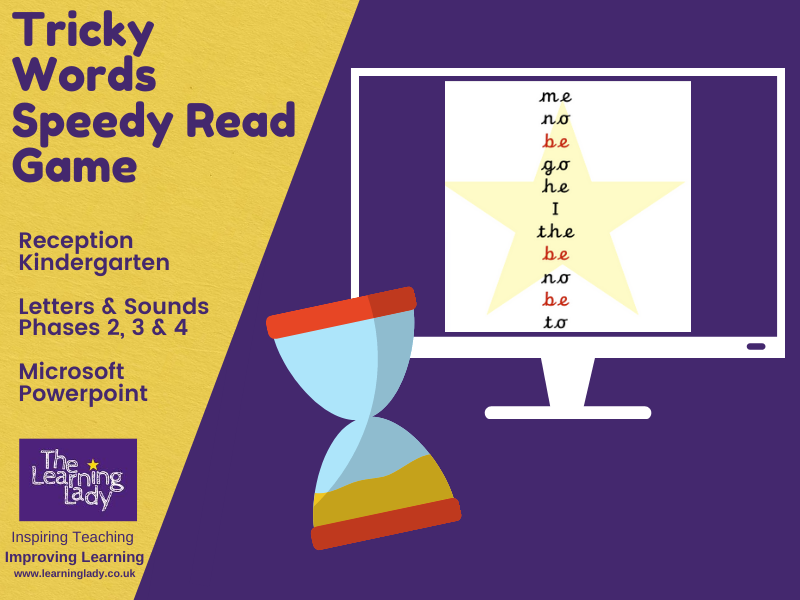 Tricky Word/Sight Word - Speedy Reading Game