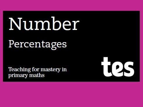Percentages: Teaching for mastery booklet