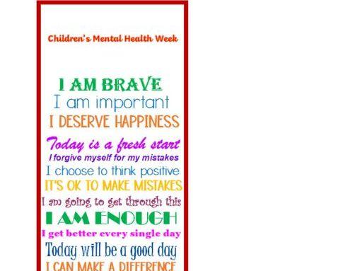 Mindfulness Bookmark