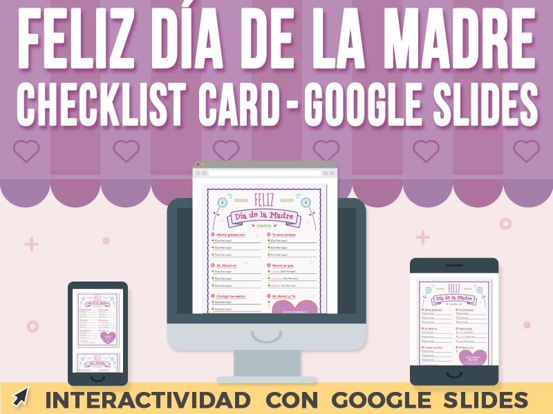 Feliz Día de la Madre Checklist Card - Google Slides