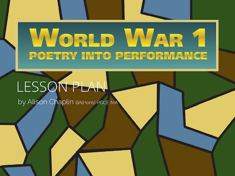 WW1 poem as performance drama and English lesson plan, Grades 4-8