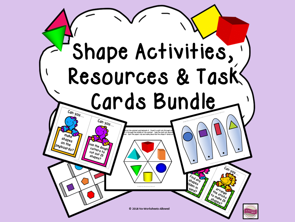 Shape Bundle: Activities, Resources, Continuous Provision Plans & Challenge Cards