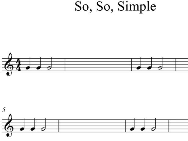 So, So, Simple Music Composition Lesson Plan