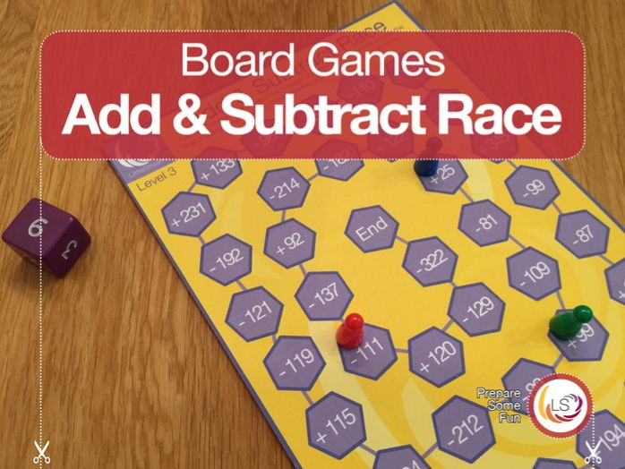 Add & Subtract Race | Board Game addition and subtraction | Differentiated