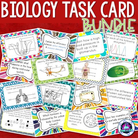 Biology Task Card Growing Bundle