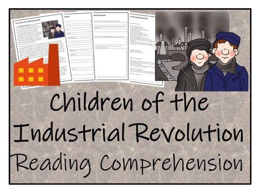 UKS2 History - Children of the Industrial Revolution Reading Comprehension Activity