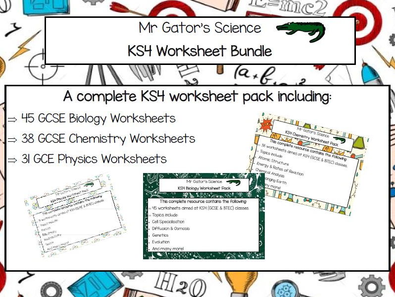 GCSE Science Worksheet Pack by MrGator - Teaching Resources - Tes