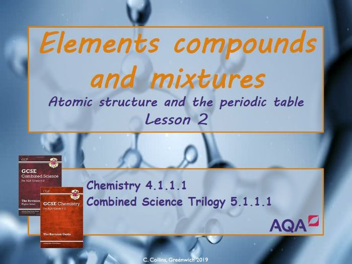 Atoms, elements and compounds #2 (AQA - Chemistry paper 1)