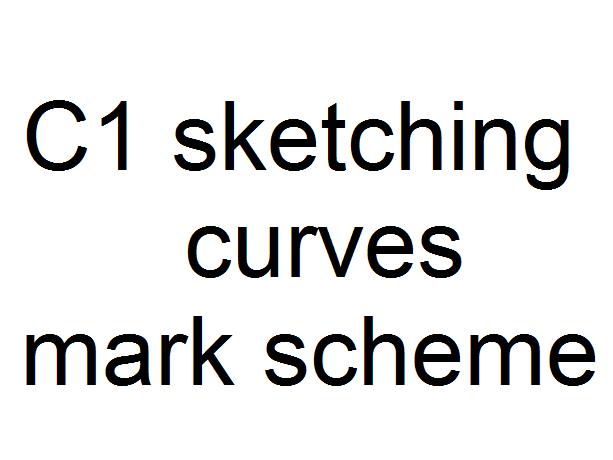 C1 sketching curves mark scheme