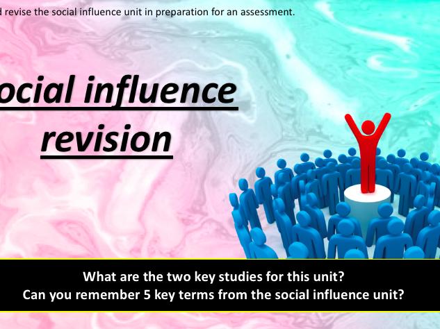 GCSE Psychology [edexcel]- social influence revision