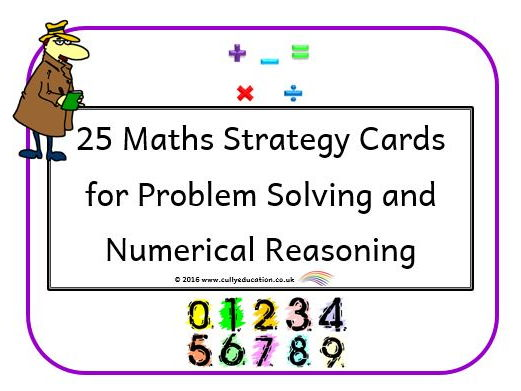 25 Visual Maths Strategy Cards for Problem Solving & Numerical Reasoning