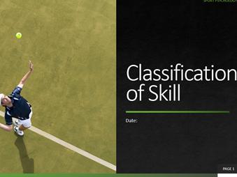 2. Classification of Skill
