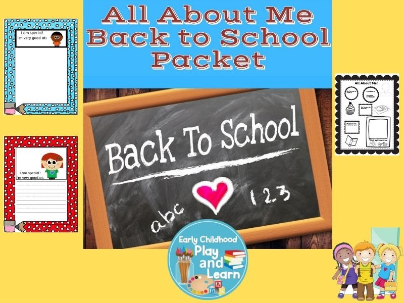 All About Me Back To School Packet UK Version