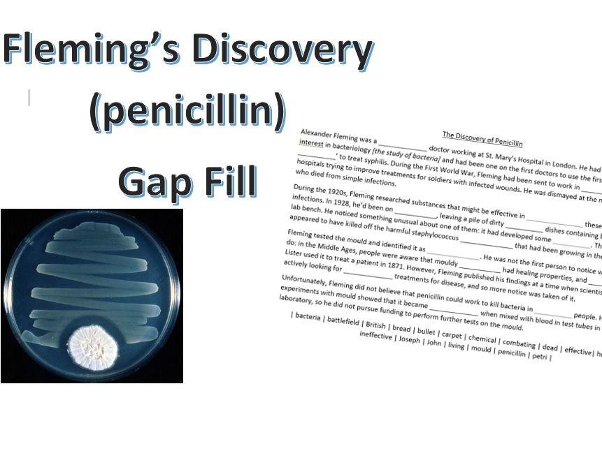 Fleming's Discovery (Penicillin) Gap Fill
