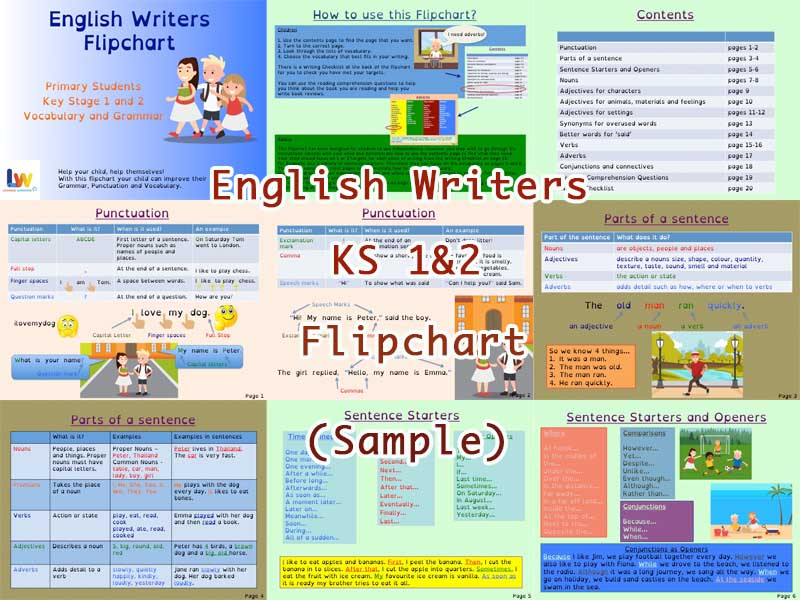 English Writers Flipchart KS 1&2 Sample