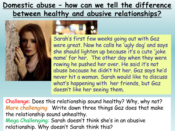 Domestic Violence + Abuse : Healthy Relationships
