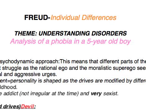 OCR Psychology Core Studies: Individual Differences PDF