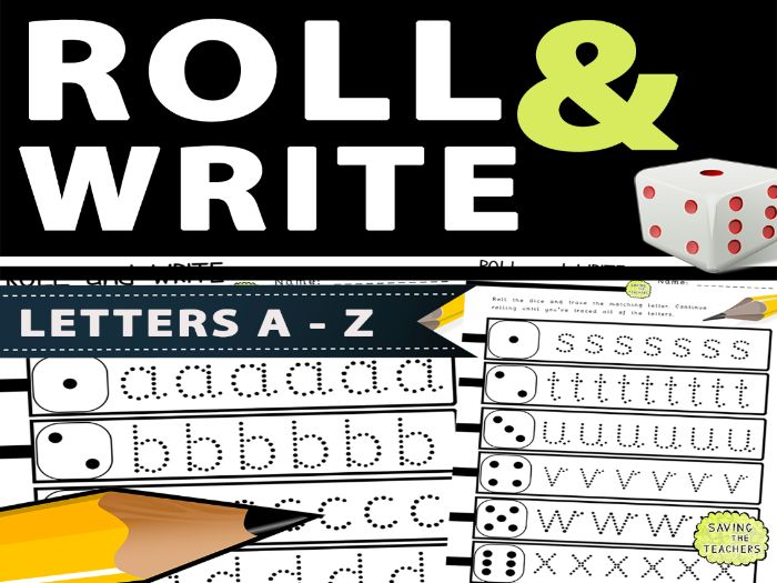 Letter Formation Dice Game: Letters A - Z