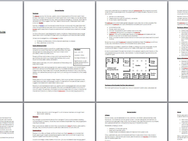Classical Civilisation Revision Guide: Roman City and Life