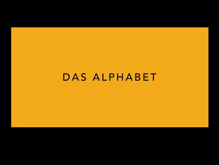 Das Alphabet