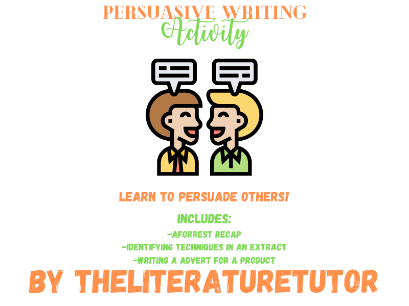 (Remote Learning) Persuasive Writing Activity Pack