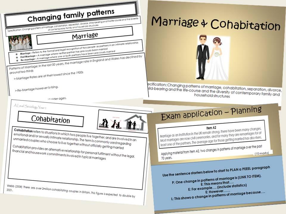 AQA Sociology - Year 1 - Families & Households - Marriage & Cohabitation