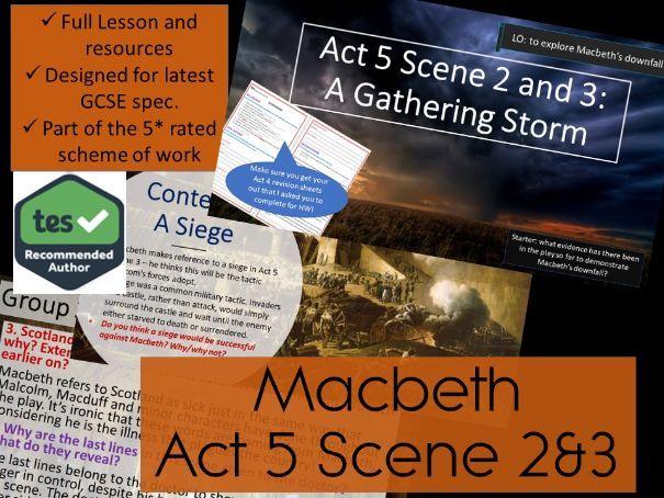 Act 5 Scene 4 5 Macbeth GCSE English Literature 9 1