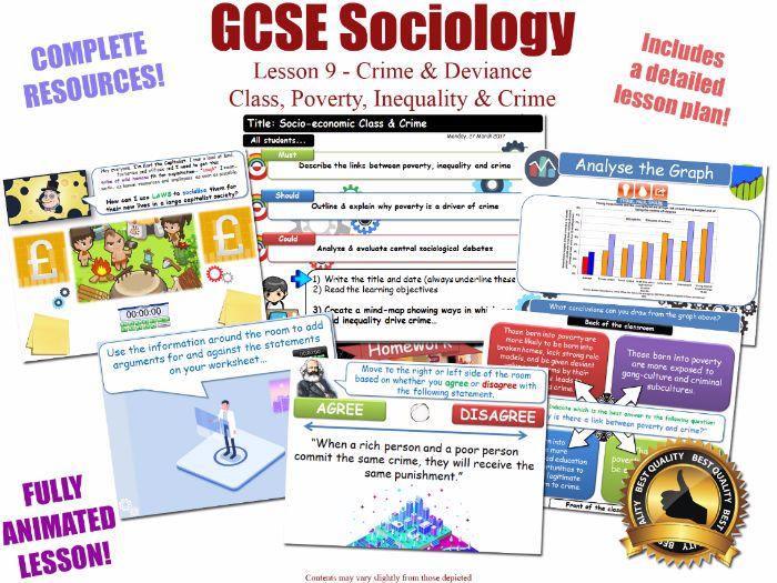 Class, Poverty & Crime - Crime & Deviance L9/20 [ WJEC EDUQAS GCSE Sociology ]