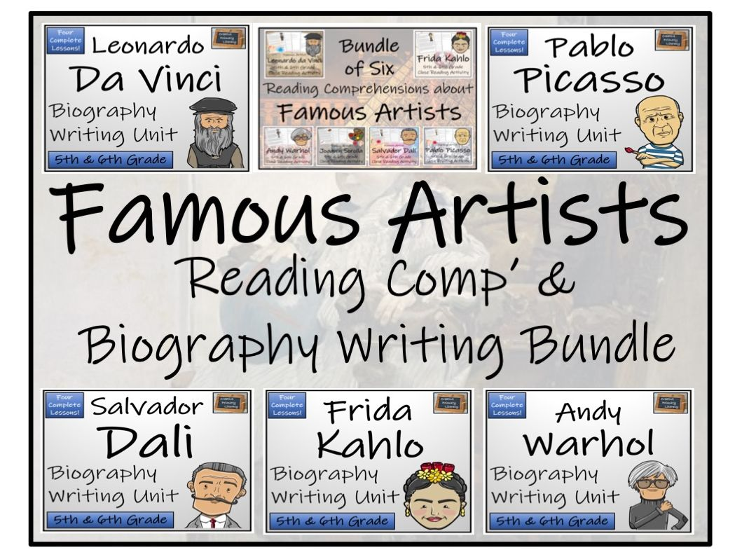 UKS2 Art - Famous Artists Reading Comprehension & Biography Writing Bundle